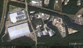 Aerial view of Pure Earth Recycling facility