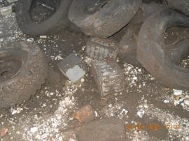 Battery casings removed from excavation