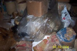 Bagged Material Improperly Stored