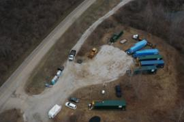View of frac tanks which hold oil and water collected from the response<br />Date Taken: 3/25/2014<br />Category: Site Photo<br />Latitude: <br />Longitude: <br />Tags: