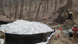 Oil-contaminated soil excavation in Zone 1<br />Date Taken: 3/25/2014<br />Category: Site Photo<br />Latitude: <br />Longitude: <br />Tags: