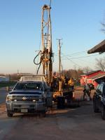 Drilling Monitoring Wells at location 6S and 6 D