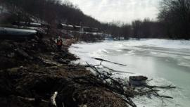 View of Derailment in close proximity next to the Galena River. <br />Date Taken: 3/6/2015<br />Category: Site Photo<br />Latitude: <br />Longitude: <br />Tags: