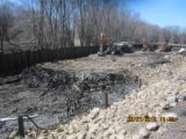 Impacted area where contaminated soils are being excavated<br />Date Taken: 3/27/2015<br />Category: Site Photo<br />Latitude: <br />Longitude: <br />Tags:
