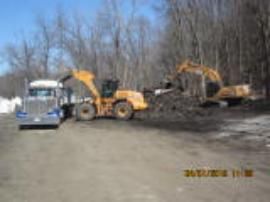 Loading out contaminated soil for transport to landfill facility<br />Date Taken: 4/1/2015<br />Category: Site Photo<br />Latitude: <br />Longitude: <br />Tags: