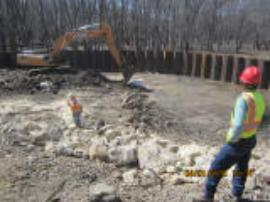Illinois EPA Rockford Field Office personnel conducting daily oversight of excavation operations