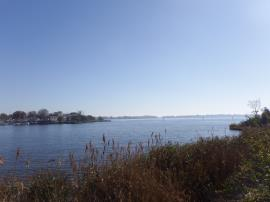 Eastern shoreline of Sparrows Point, looking south.