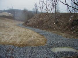 Site Restoration-intermittent creek bed w/ coffer dams
