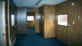 Interior view of the trailer
